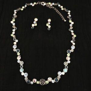 "Lia Sophia ""Happy Hour"" necklace and earrings set"